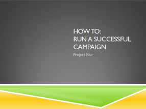 Campaign Training